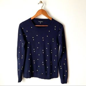 J. CREW Embroidered Star Sweater